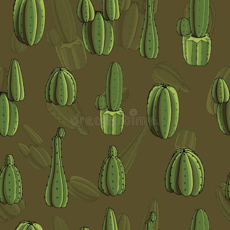 Prueba verde oliva San Pedros stock de ilustración