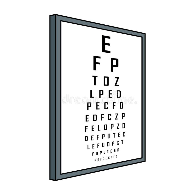 Pruebe el ejemplo del vector del arte pop de la tabla de la visión stock de ilustración
