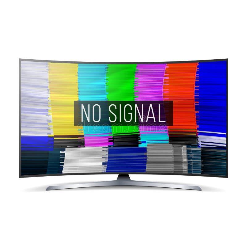Pruebe la pantalla de la interferencia del color Digitaces ninguna señal Transmisión quebrada Ilustración del vector libre illustration