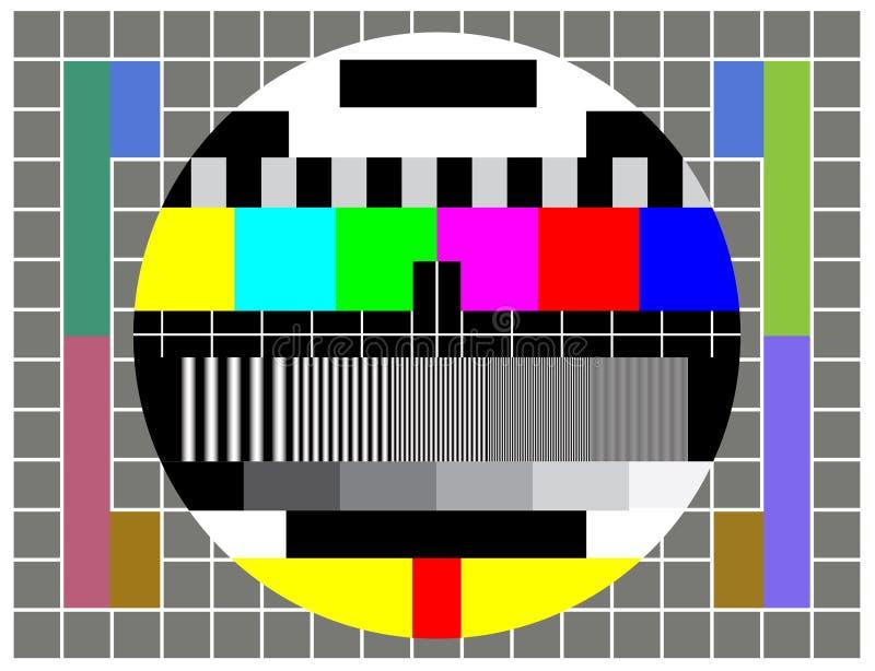 Pruebe la pantalla de la TV stock de ilustración