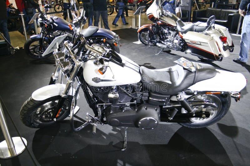 PRUMO do FAT de Harley-Davidson FXDF da motocicleta foto de stock