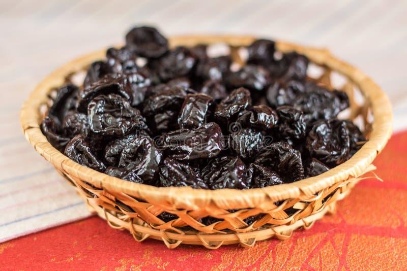 Prune. dried plum. royalty free stock photos