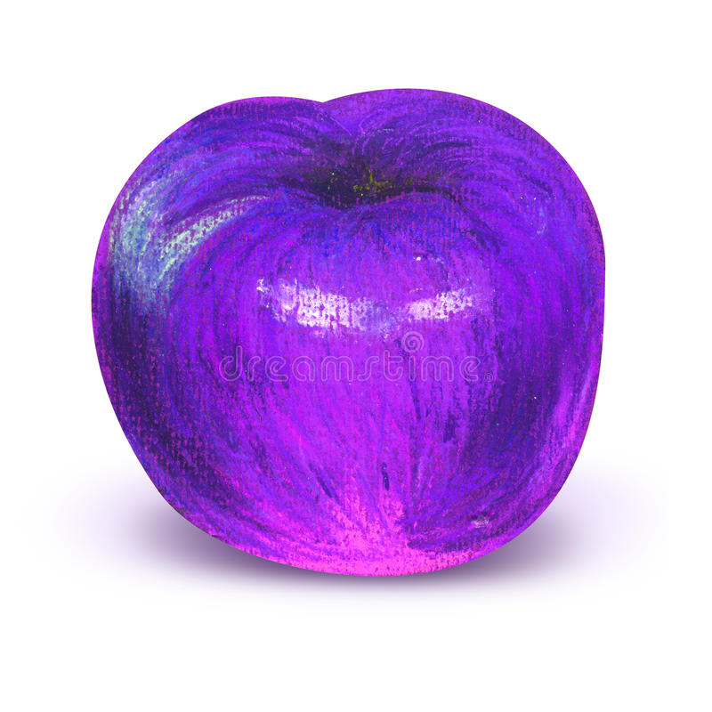 Prune violette peinte avec le chemin de travail illustration libre de droits