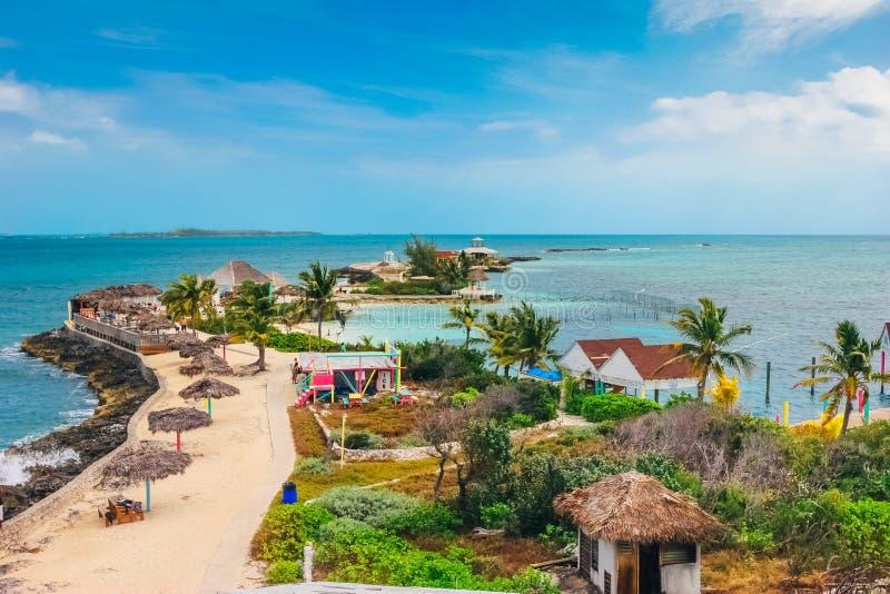 Pryda med pärlor ön i Nassau, Bahamas fotografering för bildbyråer
