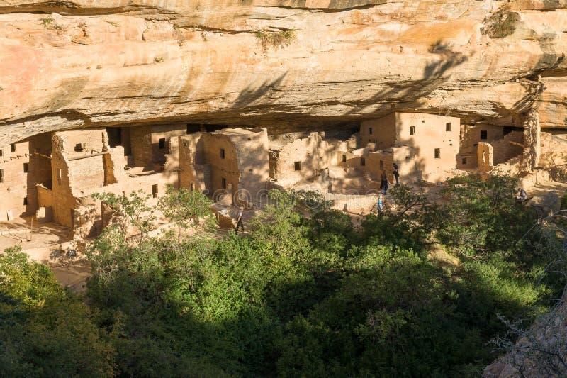 Prydligt trädhus på Mesa Verde National Park royaltyfria bilder