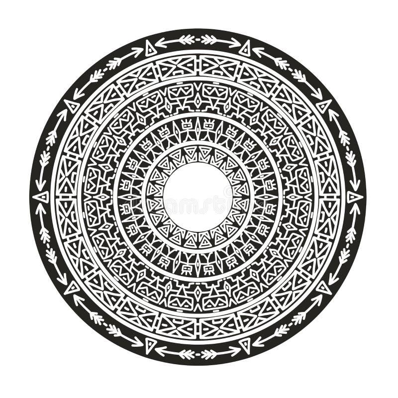 Prydnad av forntida stammar vektor illustrationer