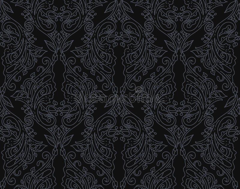 prydnad för blom- lutning för bakgrund använd linjär stock illustrationer