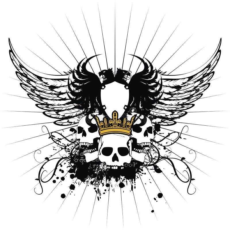prydnad för lag för 2 armar heraldisk royaltyfria bilder