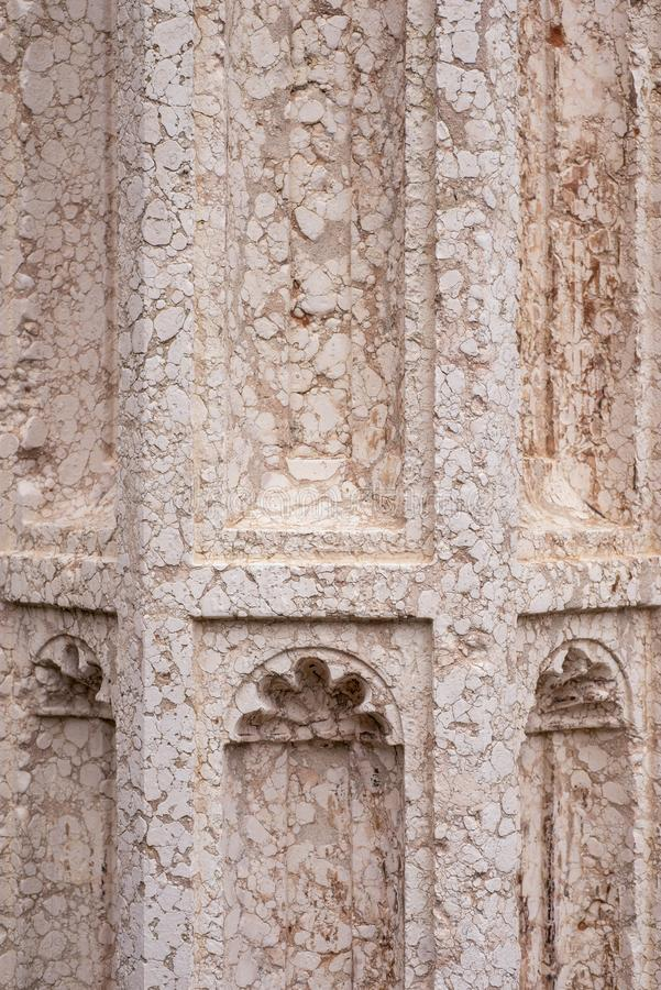 Prydnad för marmorkolonn fotografering för bildbyråer