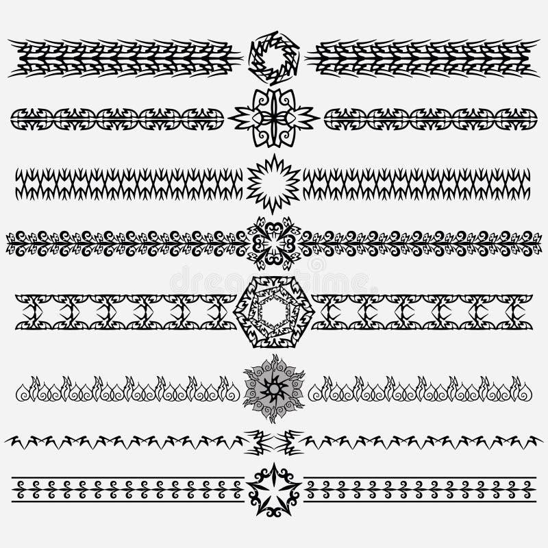 Prydnad och avdelare royaltyfri illustrationer
