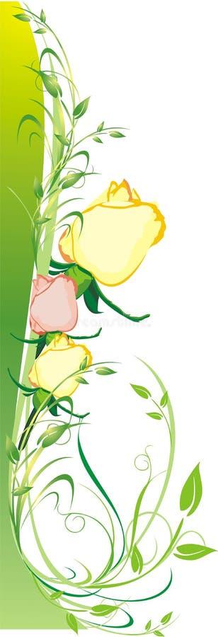 prydnad s för ferie för boukort dekorativ blom- vektor illustrationer