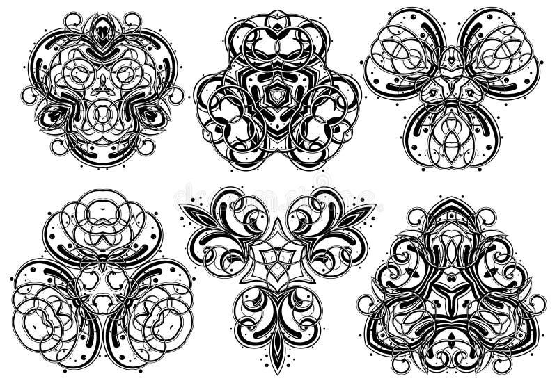 prydnadar för 1 fantasi stock illustrationer