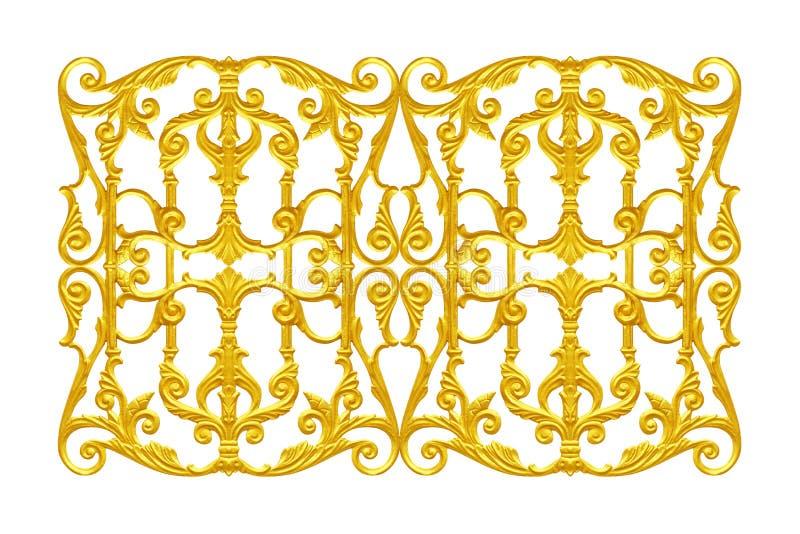 Prydnadbeståndsdelar, blom- tappningguld royaltyfria bilder