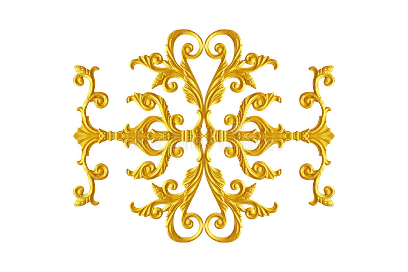 Prydnadbeståndsdelar, blom- tappningguld royaltyfri bild