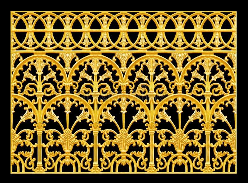 Prydnadbeståndsdelar, guld- blom- designer för tappning royaltyfri bild