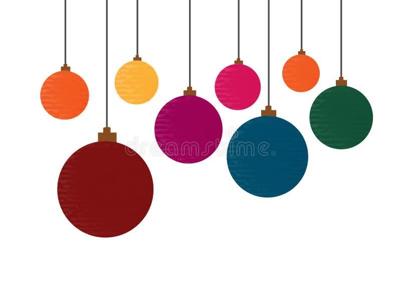 Prydnaden klumpa ihop sig jul planlägger vektorer stock illustrationer