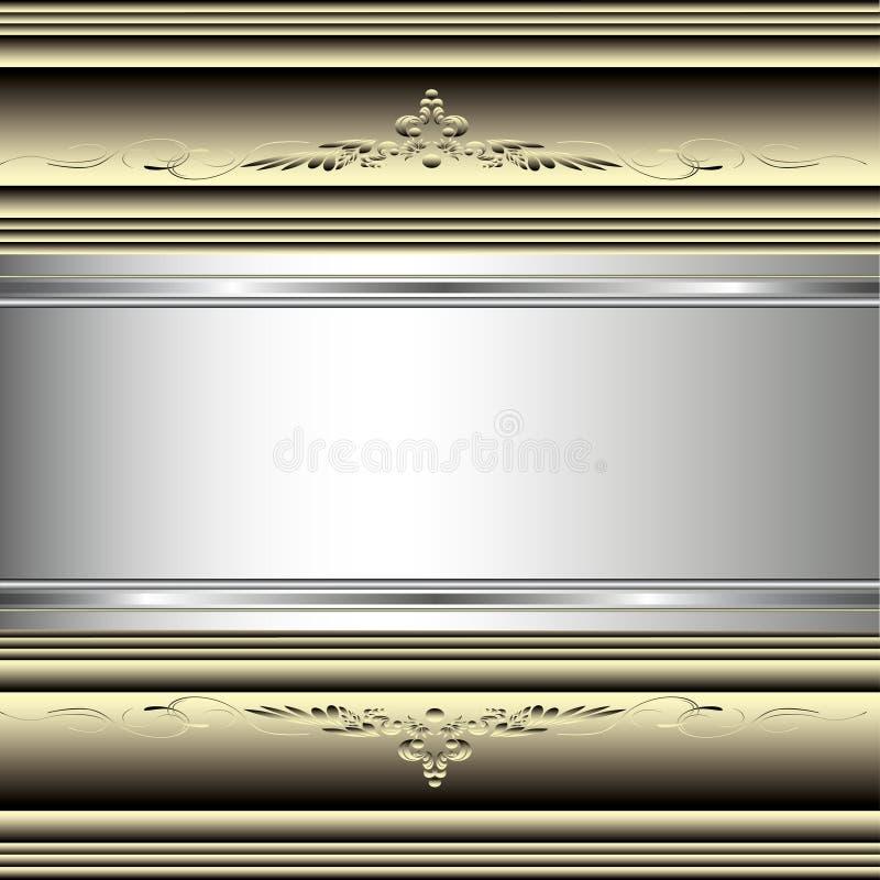 Prydnader eps10 för guld- tappning för vektor dekorativa arkivfoto