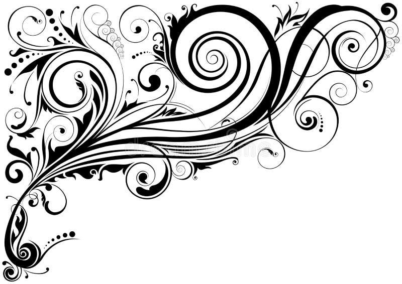 Prydnader för blom- design vektor illustrationer