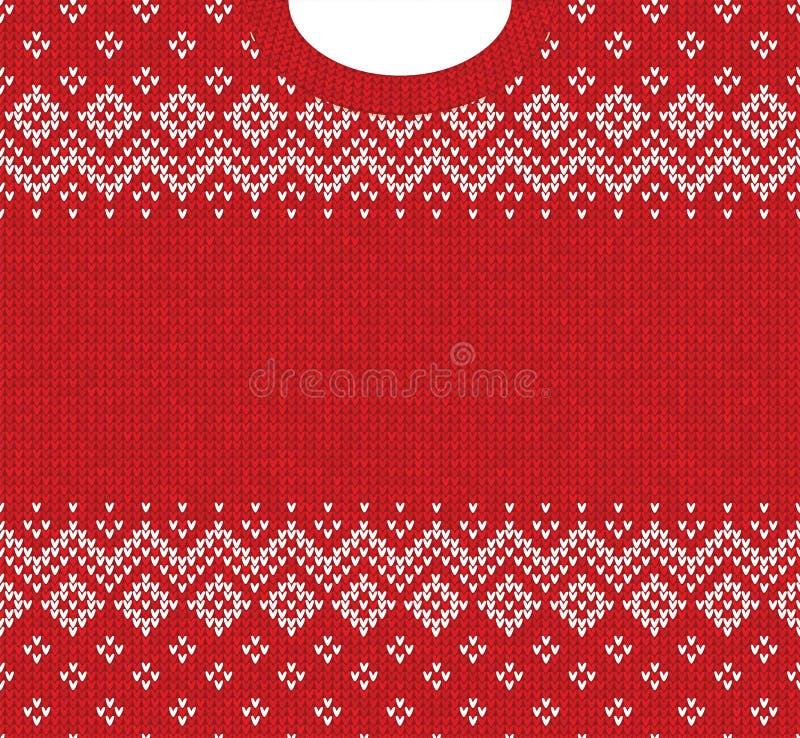 Prydnader för scandinavian för ram för kort för hälsning för lyckligt nytt år för glad jul stock illustrationer