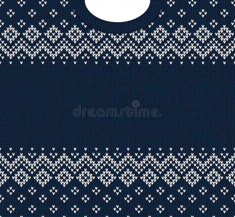 Prydnader för scandinavian för ram för kort för hälsning för lyckligt nytt år för glad jul vektor illustrationer