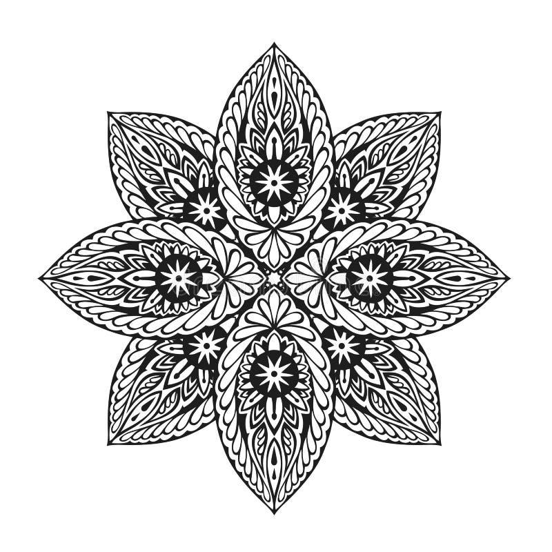 Prydnadperson som tillhör en etnisk minoritetmandala också vektor för coreldrawillustration vektor illustrationer