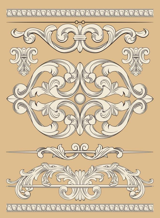 Prydnaduppsättning stock illustrationer