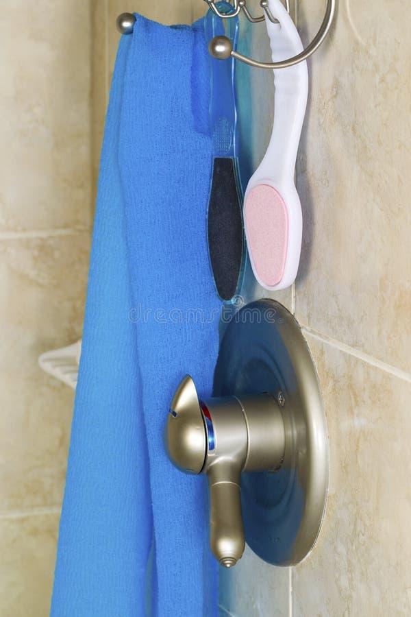 Prysznic akcesoria zdjęcie stock