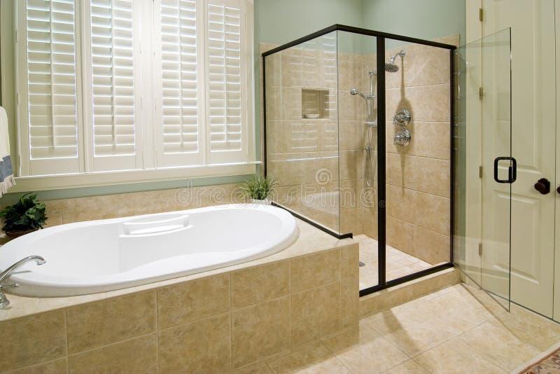 prysznic w łazience obraz royalty free
