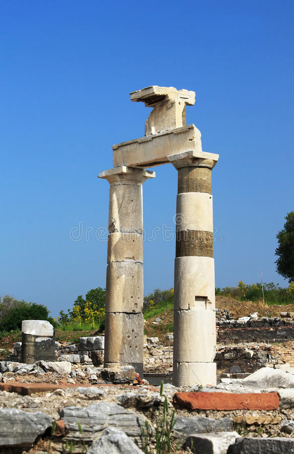 The Prytaneion at Ephesus, Turkey stock photo