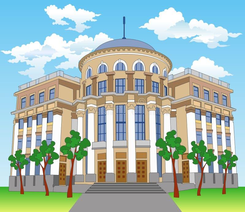 prywatna rezydencja hill royalty ilustracja