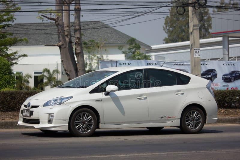 Prywatnego samochodu Toyota Prius Hybrydowy system zdjęcia royalty free