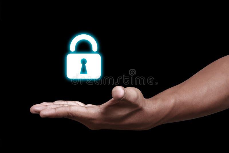 Prywatność kędziorek na ręce fotografia stock