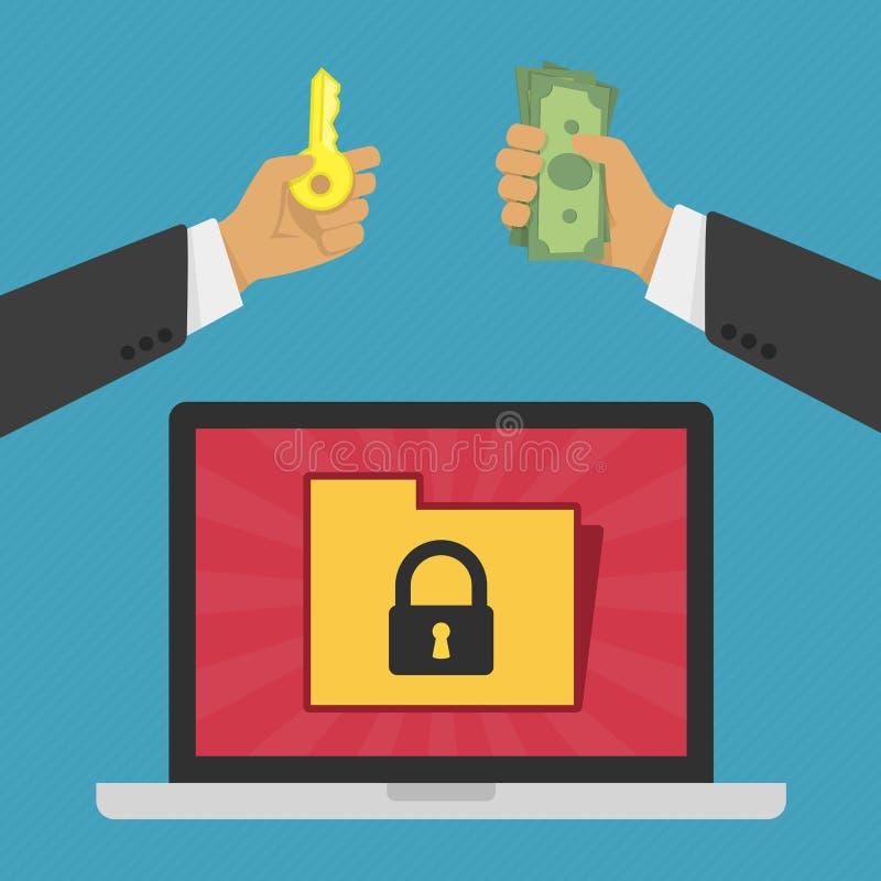 Prywatności i ochrony pojęcie royalty ilustracja