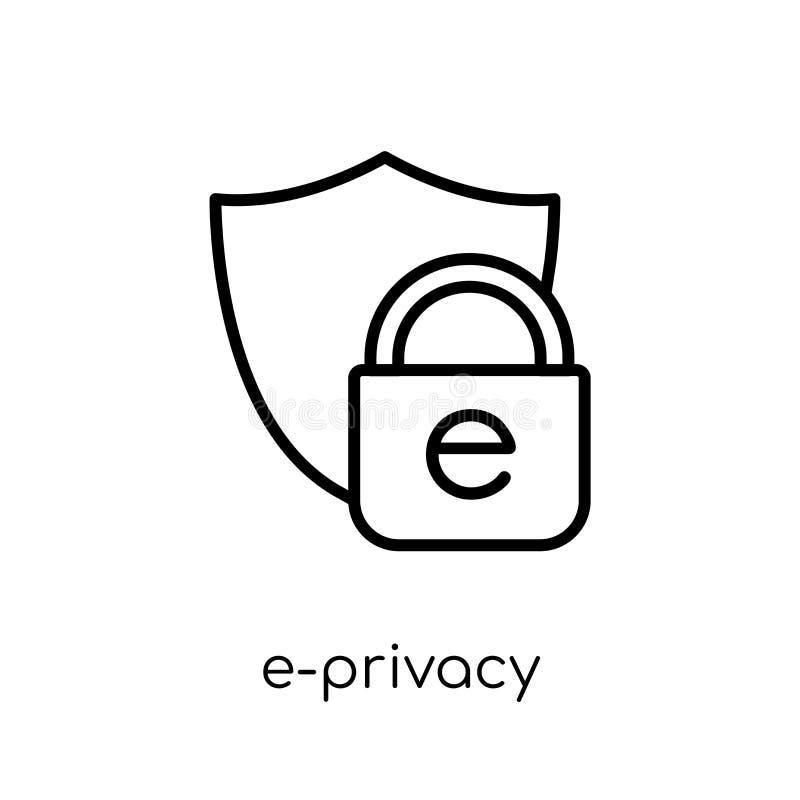 prywatności ikona Modna nowożytna płaska liniowa wektorowa prywatności ikona ilustracji