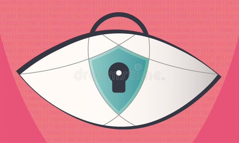 Prywatności ochrona w internecie ilustracji
