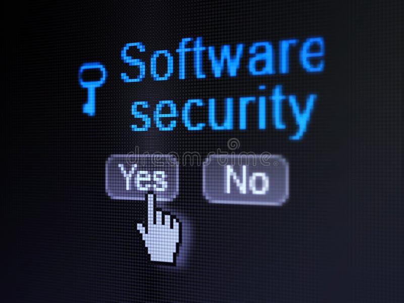 Prywatności pojęcie: Kluczowa ikony i oprogramowania ochrona dalej ilustracji