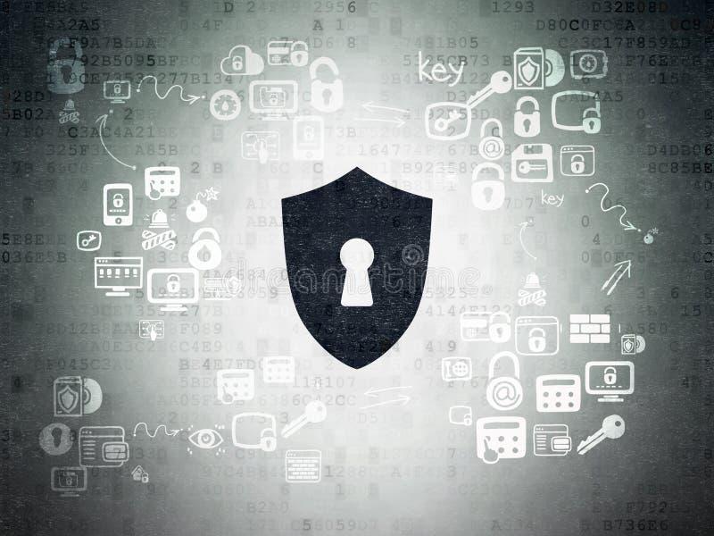 Prywatności pojęcie: Osłona Z Keyhole na Digital zdjęcie stock