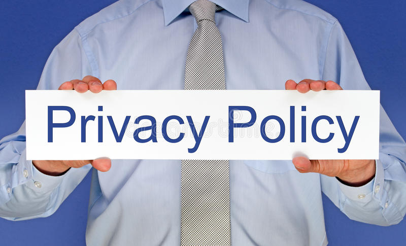 Prywatności polisa zdjęcia royalty free