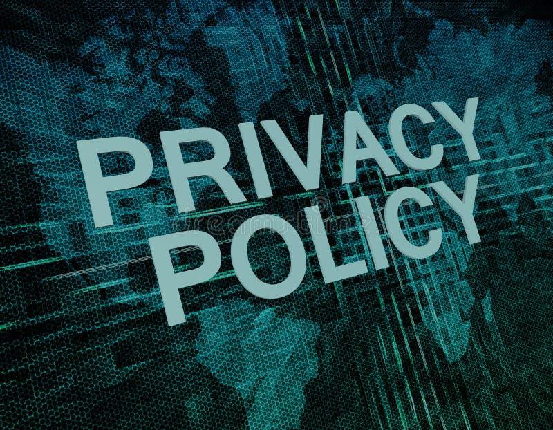 Prywatności polisa obrazy stock