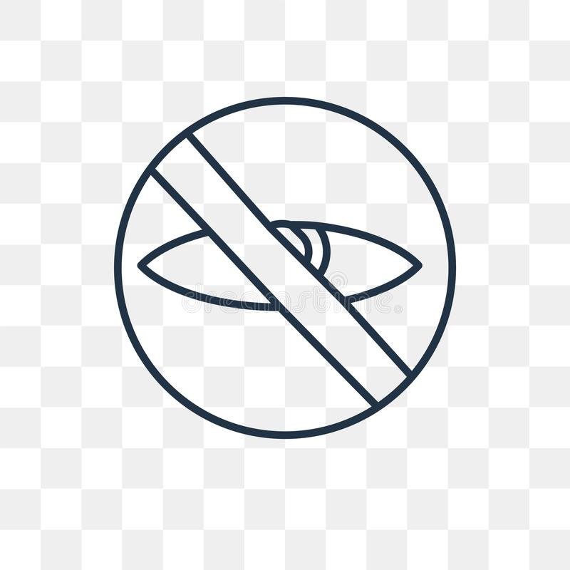 Prywatności wektorowa ikona odizolowywająca na przejrzystym tle, liniowy P ilustracji