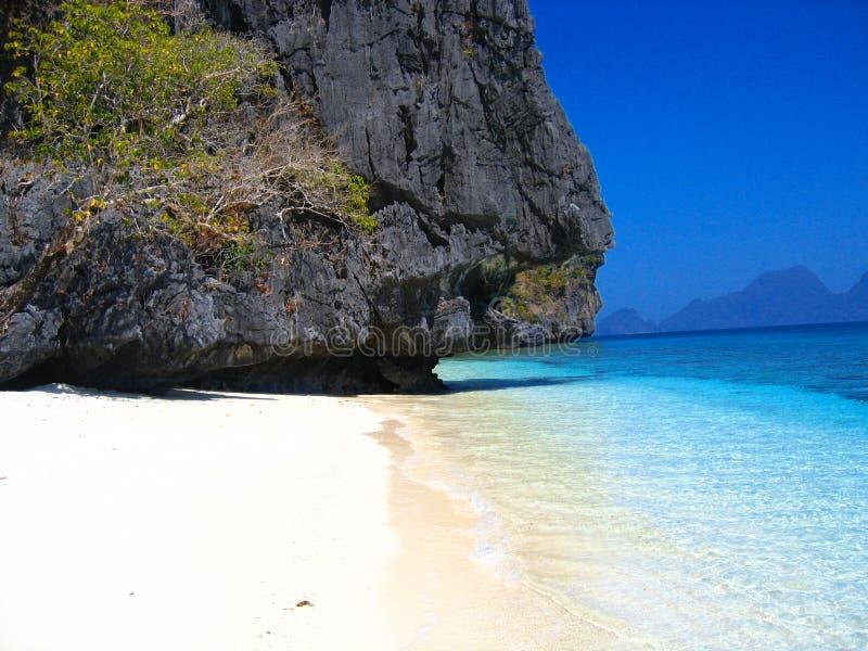 prywatny raj na plaży obraz stock