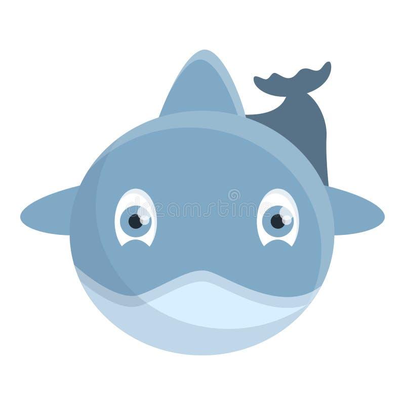 Przód delfin ikona, kreskówka styl ilustracji