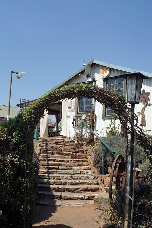 Przód dworzec w Cullinan, Południowa Afryka zdjęcia stock