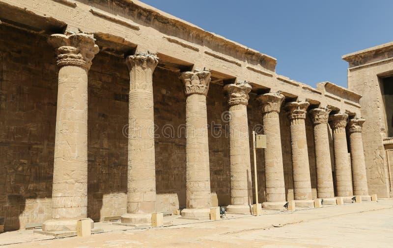 Przód Edfu świątynia w Edfu, Egipt fotografia royalty free