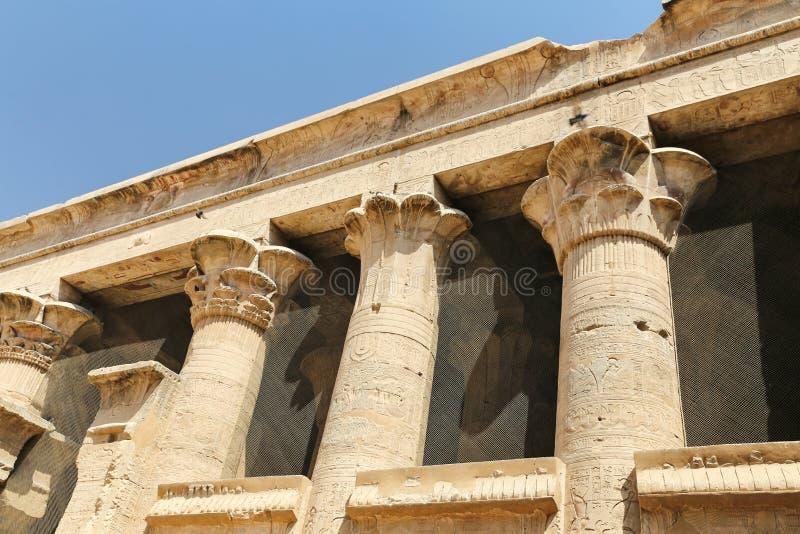 Przód Edfu świątynia w Edfu, Egipt zdjęcia royalty free
