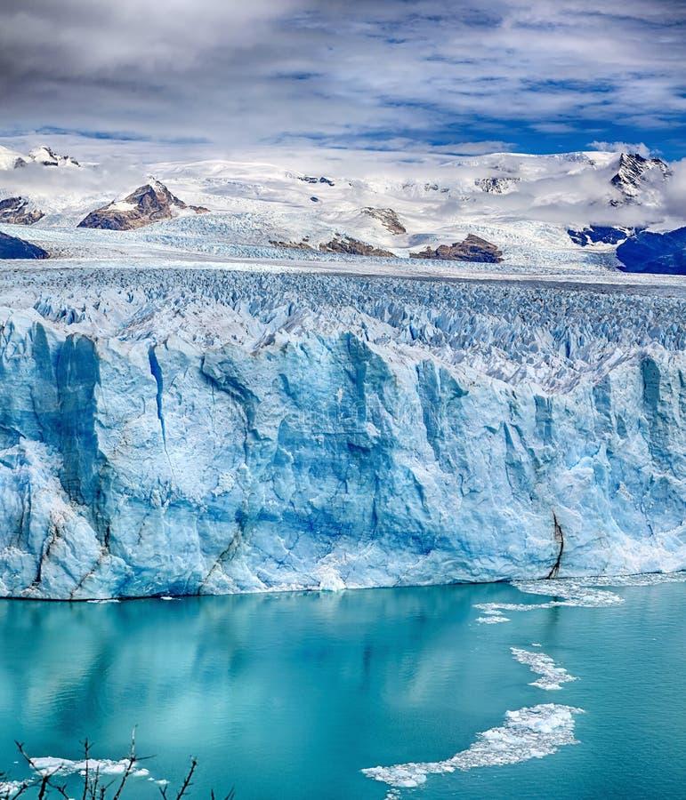 Przód Perito Moreno lodowiec przy Los Glaciares parkiem narodowym N P Argentyna obraz royalty free