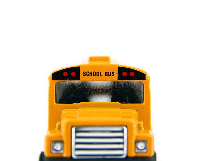 Przód Zabawkarski autobus szkolny obraz royalty free
