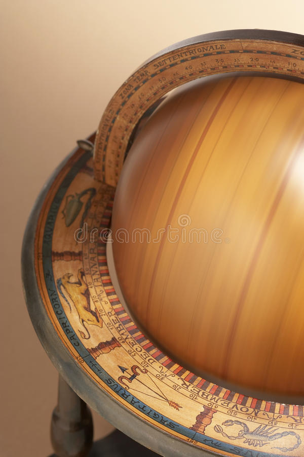 Przędzalniana Drewniana kula ziemska fotografia stock