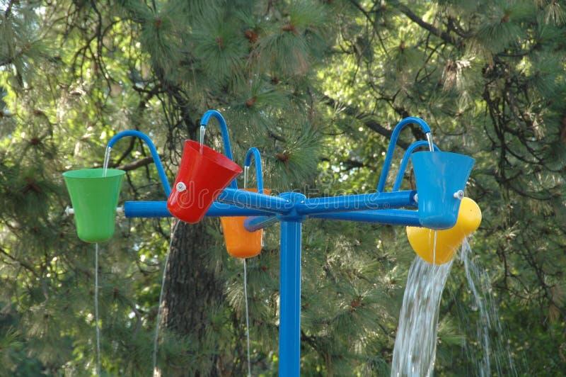 Przędzalniana wody zabawka przy Spokane parkiem obraz royalty free