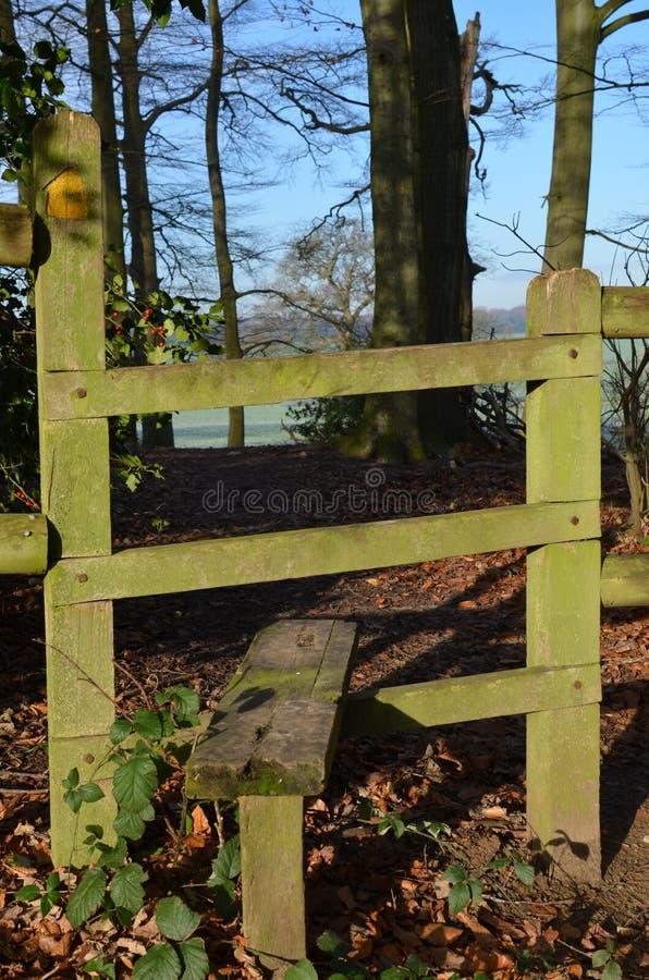 Przełaz brama w Sussex wsi fotografia royalty free
